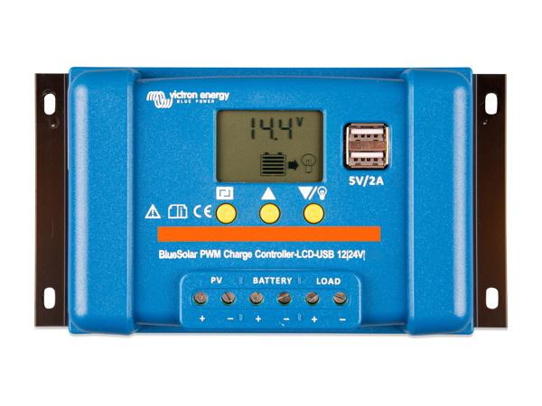 Victron BlueSolar PWM LCD & USB 12/24V 20A