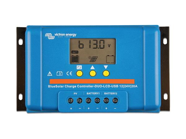Victron BlueSolar PWM DUO-LCD & USB 12/24V-20A