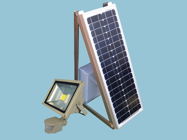 Off Grid Solar Security Floodlight with PIR Sensor- Complete Kit