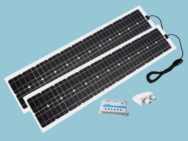 120W Sunshine Solar Flexible ETFE Range - Slimline Kit