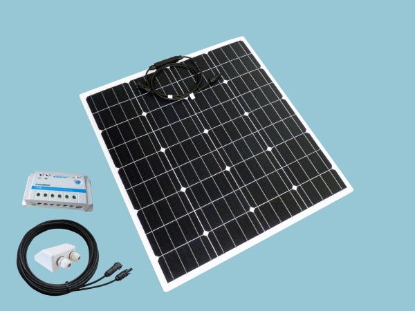 80W Sunshine Flexible Solar Caravan Motorhome & Boat Kit