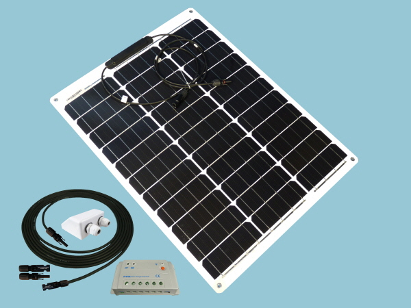 50W Sunshine Flexible Solar Caravan Motorhome & Boat Kit