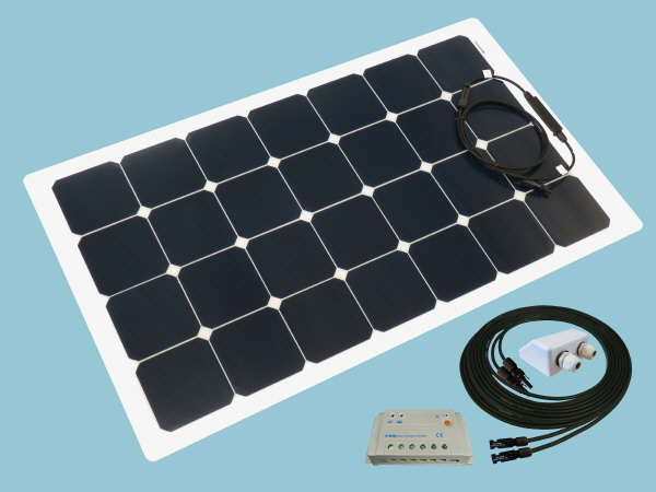 80W Sunshine Flexible Solar Caravan Motorhome & Boat Kit