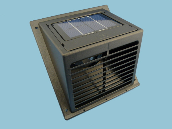Solar Wall Fan, Day & Night Extractor in Black