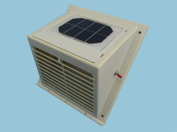Solar Wall Fan, Day & Night Extractor in White