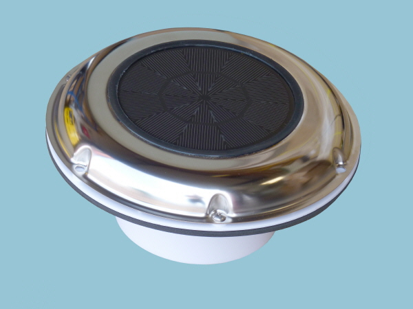 Solar Vent or Fan, Day & Night Operation - Low Profile