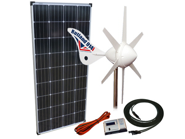 Sunshine Solar & Wind Power Kit 412W - 12V