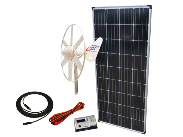 Sunshine Solar & Wind Power Kit 198W - 12V