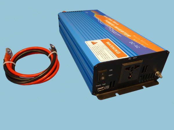 1200W - 12V Pure Sine Wave Sunshine Power Inverter